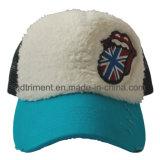 Plush Cloth Emblem Embroidery Sport Golf Trucker Hat (TMT0044-1)