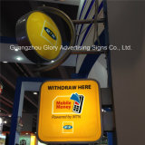 Outdoor Round Beer Display Acrylic LED Advertising Light Box