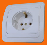 European Style Flush Mounted Schuko Socket Outlet (F2010)