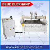 Ele 1325 Multi-Heads CNC Router, 4 Axis CNC Miling Machine for Wood Panel, Door Making