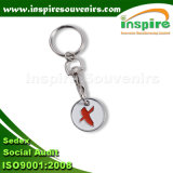 Shopping Coin Trolley Key Ring for Promotion