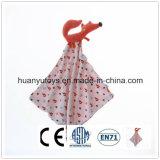 Baby Knitting Fabric Fox Snuggler Handkerchief
