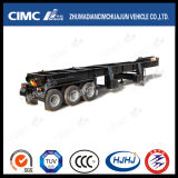 Cimc Huajun 3axle Moving Device/Trailer/Chassis for Carrying Crushing Machine