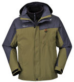 New Style Nylon/PU Breathable 3 in 1 Outdoor Jacket