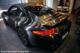 Tsautop 1.52*30m New Style Brushed Metal Satin Black Car Vinyl Wrap