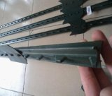 8FT Green Painted Studded T Post/1.33lb Farm Fence T Post
