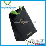 Luxury Custom Logo Printed Black Paper Gift Bag Wholesale