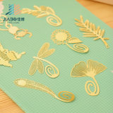 China Creative Classical Retro Lovely Wind Leaf Clover Leaf Metal Hollow Bookmarks Stationery