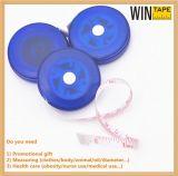 Promotional Item China Mini Transparent Blue Color Measuring Tape