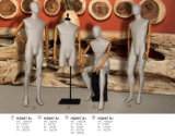 Wrapped Male Mannequins with Wooden Arms