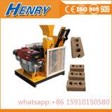 Hr1-25 Diesel Engine Power Soil Clay Cement Interlocking Brick Making Machine