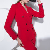 Hot Style Double Breast Women Red Color Ladies Office Blazer