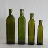 Marasca Dark Green Olive Oil Glass Bottle (V037)