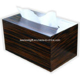 Wooden Paper Hand Towel Cover Striped Ebony Veneer Holder