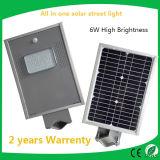 6W Integrated Solar Garden Outdoor Wall Street Light