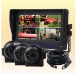 7-Inch Digital LCD Monitor System with Waterproof Cameras for RV