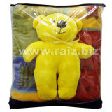 Fleece Baby Blanket with Toy