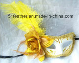 Muliti-Color Personal Decoration Turkey/Ostrich Venice Feather Mask