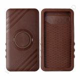 Brown Plastic+Silicone Universial Mobile Phone Case