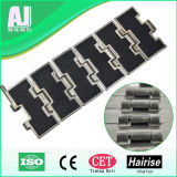 ISO Stainless Steel Anti-Skid Slat Top Plastic Conveyor Chain