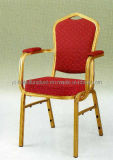 Leisure Red Fabric Metal Armrest Chair (YC-L02)