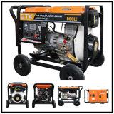 5kw Diesel Generator Set with Prompt Sale Sevice (Big Wheels)