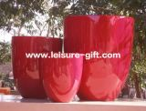 Fo-297 Tapered Round Fiberglass Garden Pot