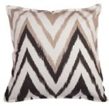 Cotton/Linen Cushion Cover with Zigzag Printing (LN027)