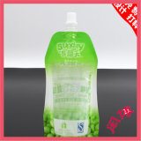 Custom Design Laminated Material Plastic Reusable Stand up Drinking Water Spout Pouch Bag