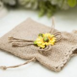 Natural Gift Packing Drawstring Jute Pouches for Wedding (CJB1139)