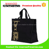 Promotional Canvas Fabric Zipper Fashion Hand Bag for Shopping