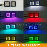 3X3 12W RGB LED Pods with Halo Ring Color Changing for Truck