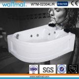 White Acrylic Corner Whirlpool Bathtub for 2 Person (WYM-02304-3L/R)