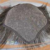 Human Grey Hair Cheap Stock Mens Hair Piece