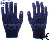 Double PVC Dots Labor Protective Industrial Safety Work Cotton Gloves