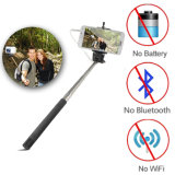 Foldable Wired Selfie Stick with Cable Control for Android & ISO