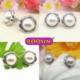 Newest Fashion Jewellery Silver Plated Stud Pearl Earring for Women (21742)