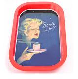 Anti-Skidding Tea Cup Tin Tray