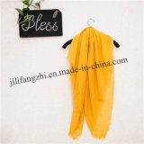 Woven Polyester Lady Plain Scarf Voile Fabric