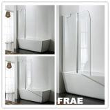 Bathtub Door Screen One Fix One Swing Door Aluminium Alloy Bathroom Shower Set