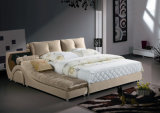 Modern Double Upholstered Bedroom/Home Bed with Storage (L851)