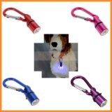 Waterproof Safety Flashing Light LED Aluminum Dog Cat Pet Collar Tag