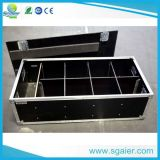 Vinyl Laminated Plywood Lighting Cable Case with Dividers and Casters