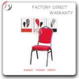 Grey Tube Red Fabric Steel Stacking Chair (BC-23)