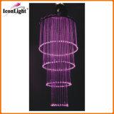 LED Crystal Fiber Optic Wedding Chandelier Ceiling Light (ICON-FC-03)