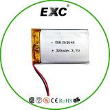 3.7V Lithium Battery OEM 303040 3.7V 320mAh Lipo Battery