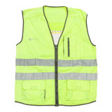 CE En20471 Fluorescent Yellow Reflecitve Safety Jacket (UF087W)