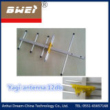 Outdoor Yagi Antenna 12dB with Coaxial Cable RG6