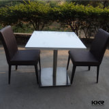 Restaurant Furniture Table White Solid Surface Dining Table