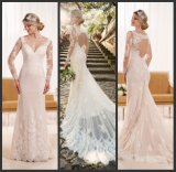 Dots Tulle Bridal Gown Custom Made Lace Wedding Dress Esnd1947